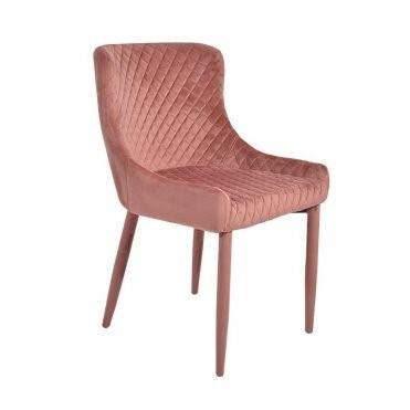 set 4 chair velvet pink