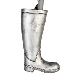 silver umbrella boots design