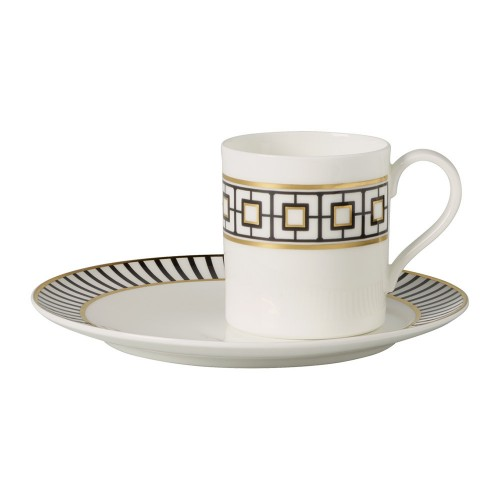 Coffee plate and cup Metrochic Villeroy & Boch