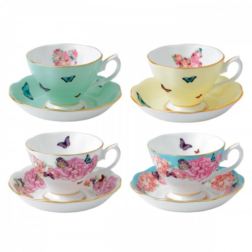 4 TEA CUPS SET MIRANDA KEER ROYAL ALBERT