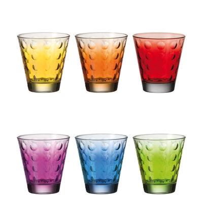 OPTIC COLORS 6 GLASSES SET LEONARDO