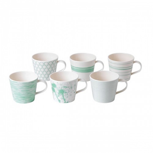 PACIFIC MINT SET 6 MUGS ROYAL DOULTON