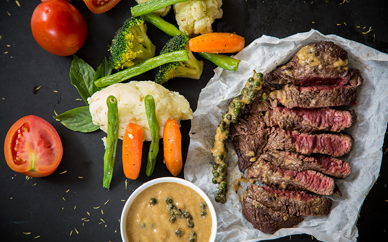 #RealFood Recipe: Steak with Pepper Sauce