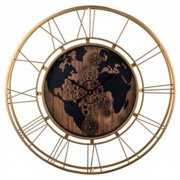 rellotge decoració mapamundi
